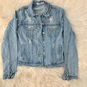 Jackets & Coats - Distressed denim jacket